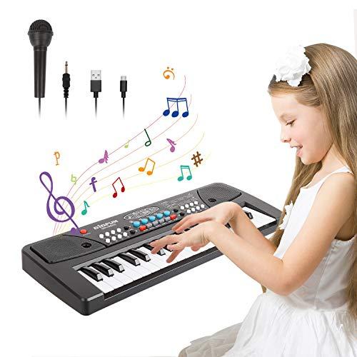 TWFRIC Keyboard Klavier,37 Schlüssel Kinder Klavier Piano frühe Bildung mit Mikrofo Multifunktions...