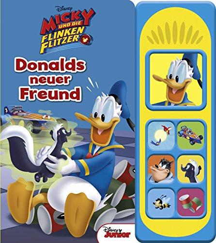 Disney - Donalds neuer Freund -Soundbuch - Disney Micky und die flinken Flitzer - Pappbilderbuch mit 7...