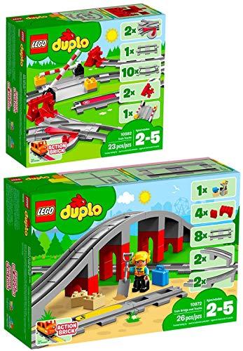 Lego Duplo 2er Set 10882 10872 Eisenbahn Schienen + EisenbahnbrüCke und Schienen