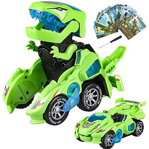 Yojoloin Dinosaurier Spielzeug Transformer Spielzeug, Transform Auto Spielzeug Spielzeugauto Geschenk...