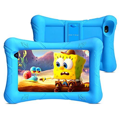 Pritom Kids Tablet, 32 GB ROM, Kinder-Tablet, Quad-Core-Prozessor, HD-IPS-Display,...