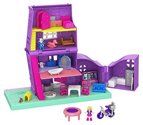 Polly Pocket GFP42 - Pollys Haus Puppenhaus mit Zubehör, Puppen Spielzeug ab 4 Jahren, Mehrfarbig