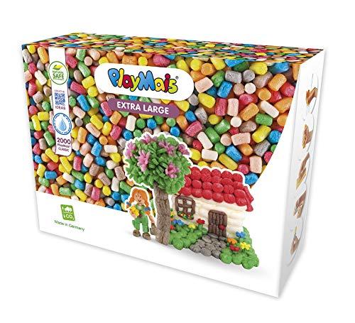 PlayMais Basic XL Bastel-Set für Kinder ab 3 Jahren | Über 2000 Stück zum Basteln | Natürliches...