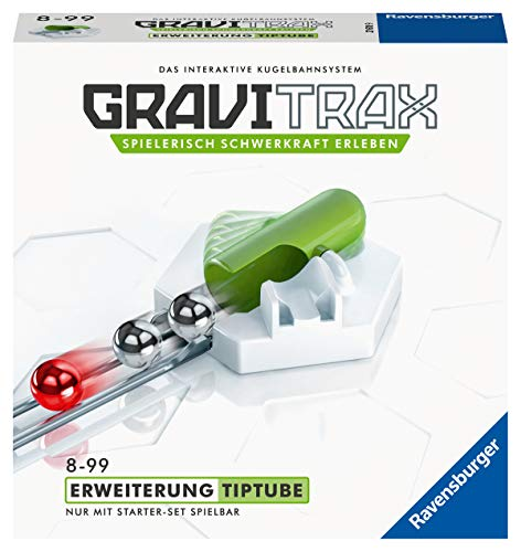 Ravensburger GraviTrax Erweiterung TipTube - Ideales Zubehör für spektakuläre Kugelbahnen,...