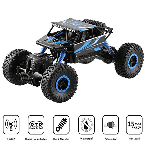 Profun 2,4 GHz 4WD Rock Crawler Ferngesteuertes Auto RC Car Auto, 1:18 Monster Truck Road Fahrzeug