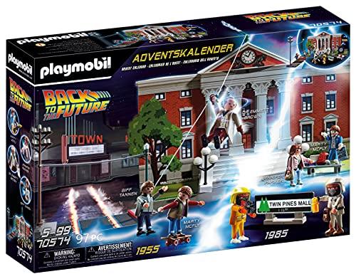 PLAYMOBIL Adventskalender 70574 Back To The Future mit Sammelfiguren und Zubehörteilen der...