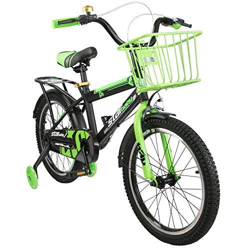 Airel Kinderfahrräder für Jungen und Mädchen   Fahrrad mit Rollen und Korb Kinderfahrrad   Fahrrad...