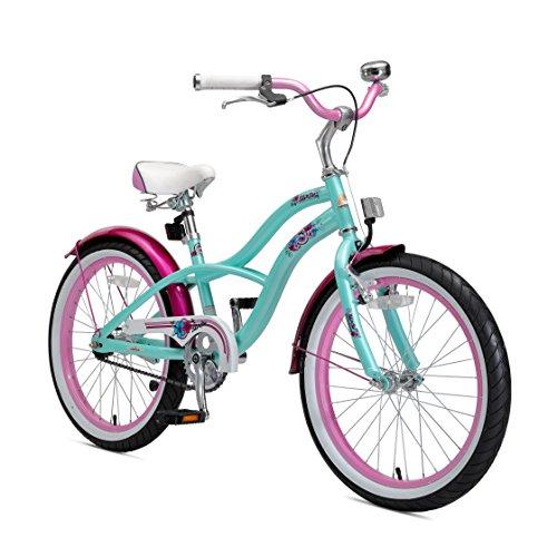 BIKESTAR Premium Sicherheits Kinderfahrrad 20 Zoll für Mädchen ab 6-7 Jahre | 20er Kinderrad Cruiser |...