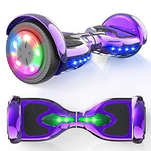 """MICROGO Hoverboard Kinder 6,5"""" Elektroroller mit Bluetooth-Lautsprechern LED-Leuchten, Geschenk für..."""