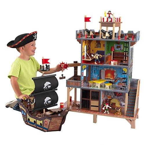KidKraft 63284 Spielset Pirate's Cove Spieleset aus Holz für Kinder, Bunt