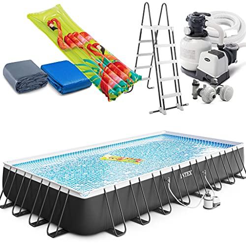 Intex Ultra XTR Frame Swimming Pool rechteckig 975 x 488 x 132 cm Schwimmbecken 26374 Komplett-Set mit...