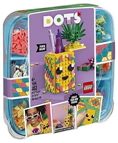 LEGO 41906 DOTS Ananas Stiftehalter, Schreibtisch-Organizer, Kinderzimmer-Deko, Bastelset, Kreativset...