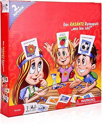 WAS BIN ICH - COSMOERY Brettspiele Spieleklassiker Kinderspiel Kartenspiele Rätselraten was Bin ICH -...