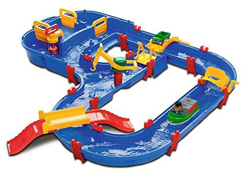 AquaPlay - MegaBridge - Wasserbahnset mit 3 Spielstationen und 49 Teilen, inklusive Bo der Bär,...