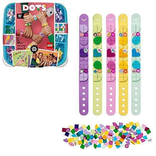 LEGO 41913 DOTS Freundschaftsarmbänder, 5 x Kinderarmband, Bastelset für Kinder, Mädchen und Jungen,...