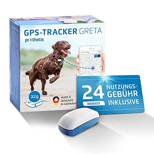 Prothelis Greta Hunde GPS Tracker Mini Peilsender mit App inklusive 24 Monate Nutzungsgebühr | Tracking...