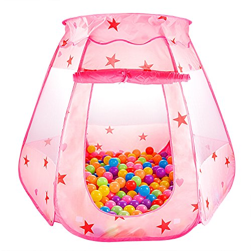 SKL Kinder Spielzelt Princess Pop Up Zelt Kinderspielzelt Bällebad Pop Up Spielzelt für Kinder Baby