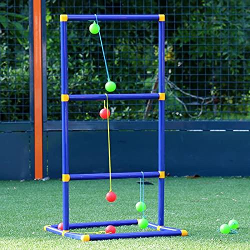 POHOVE Leitergolf Spiel Leiterspiel Wurfspiel mit 6 Golf Bolas Leitergolf Wurfspiel Gartenspielzeug...
