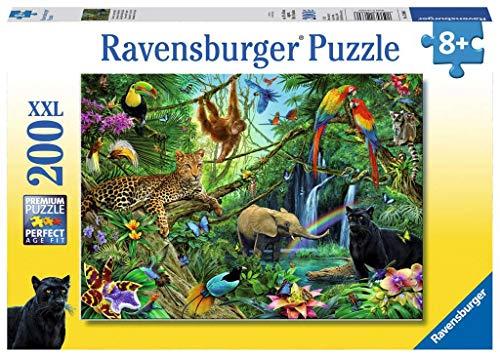 Ravensburger Kinderpuzzle 12660 - Tiere im Dschungel 200 Teile XXL - Puzzle für Kinder ab 8 Jahren