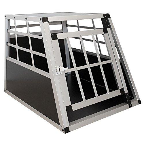 Sam´s Pet Aluminium Hundetransportbox Größe M schwarz/Silber | Alu Auto Transportbox kleine Hunde |...