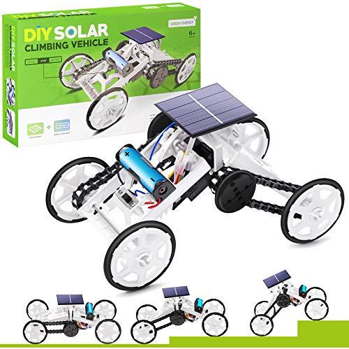 Selieve Spielzeug für 6-15 Jahren Jungen, Stem Spielzeug DIY 4WD Kletterfahrzeug Pädagogisches Solar...