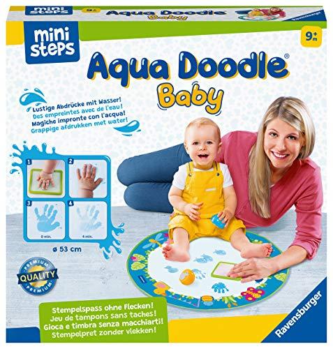 Ravensburger ministeps 4181 Aqua Doodle Baby - Fleckenfreies Stempeln mit Wasser - Erstes Stempelset für...