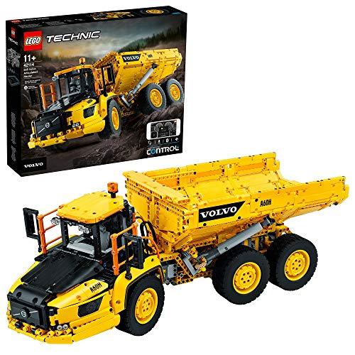 LEGO 42114 Technic Knickgelenkter Volvo-Dumper (6x6), ferngesteuertes Auto, Konstruktionsfahrzeug für...
