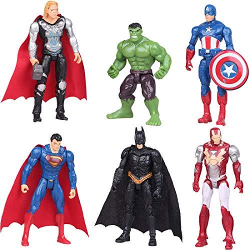 YUESEN Cake Topper 6Pcs Superhelden Avengers Figuren Geburtstags Party liefert Cupcake Spongebob Figuren...