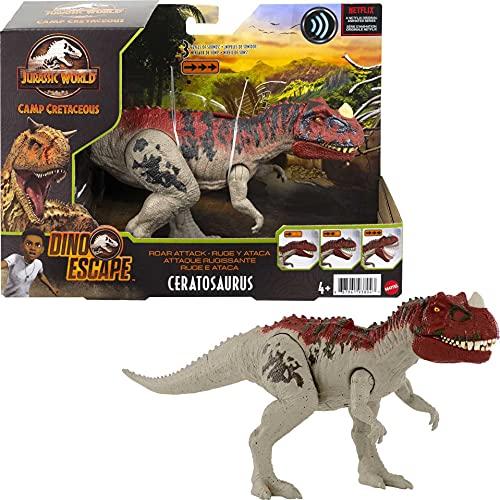 Jurassic World GWD07 - Brüllattacke-Dinosaurier-Actionfigur, ab 4 Jahren