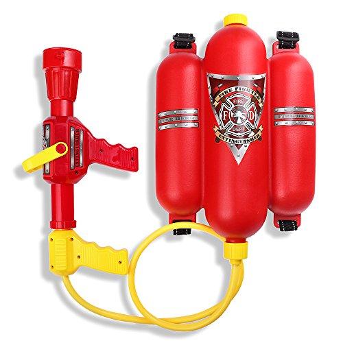 Schramm® Wasserspritze Feuerwehrspritze mit Rückentank Wasserpistole Feuerlöscher Wasser Pistole...