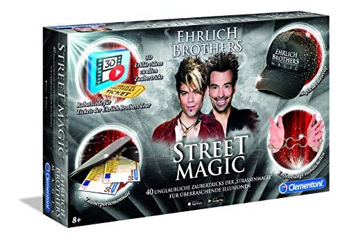 Clementoni 59049 Ehrlich Brothers Street Magic, Zauberkasten für Kinder ab 8 Jahren, magisches Equipment...