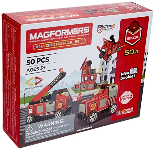 MAGFORMERS GmbH 278-56 Magformers Amazing Rescue Set 50T, bunt