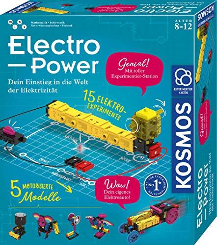 KOSMOS 620707 Electro Power, Einstieg in die Welt der Elektrizität, 5 motorisierte Modelle bauen und mit...
