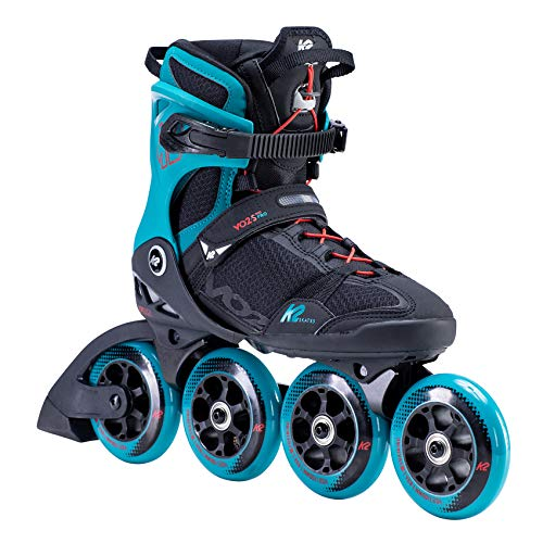 K2 Inline Skates VO2 S 100 M Für Herren Mit K2 Softboot, Black - Teal, 30F0161