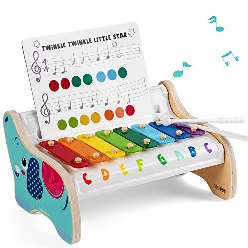 TOP BRIGHT Holz Xylophon Kinder 1 Jahr, Musik Instrumente Kinder Holz, Kinderspielzeug 1 Jahr Junge...
