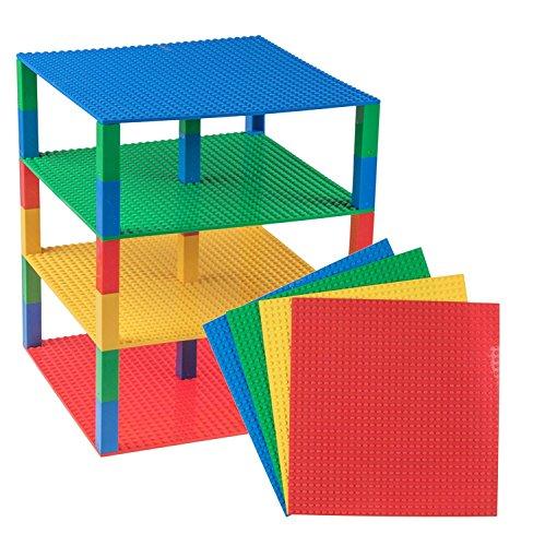 Stapelbare Premium-Bauplatten - kompatibel mit Allen großen Marken - geeignet für Turm-Konstruktionen -...