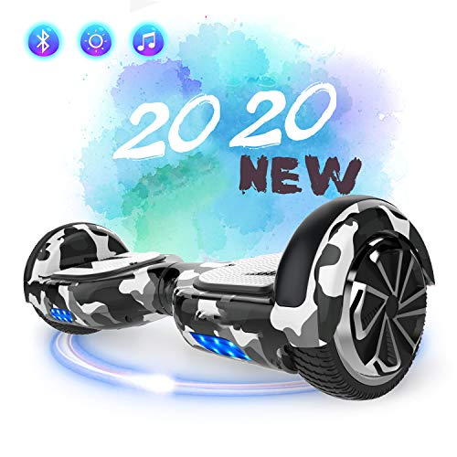 SOUTHERN-WOLF Hoverboard Self-Balancing Scooter, 6,5zoll Hover Scooter Board Bluetooth Scooter mit bunten...