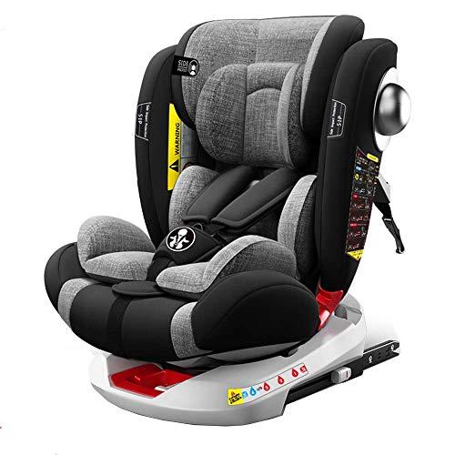 Babify Onboard Autositz, um 360 Grad drehbar, Gruppe 0/1/2/3, von Geburt bis 12 Jahre, neigbar, Geburt...