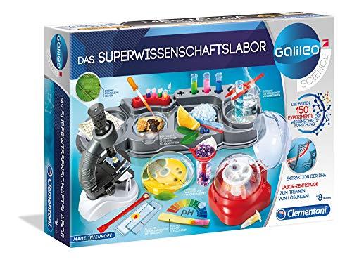 Clementoni 59083 Galileo Science – Das Superwissenschaftslabor, 150 spannende Versuche für Zuhause,...