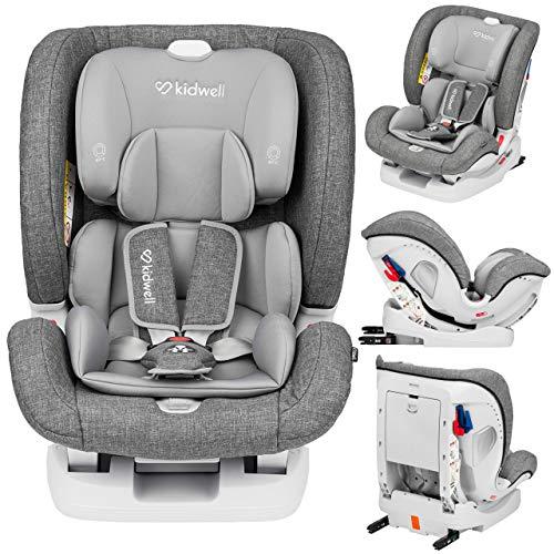 KIDWELL Autositz 0-36 kg | 0-12 Jahren | Gruppe 0+ / 1/2 / 3 | Kindersitz mit 5-Punkt-Gurtsystem & Isofix...