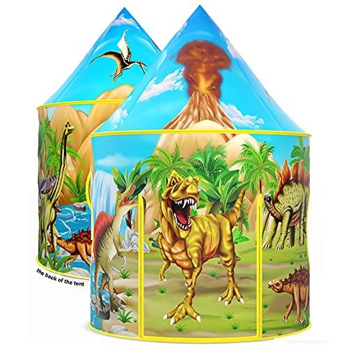Wilwolfer Dinosaurier-Kinderzelt, aufklappbares Spielzelt für Kinder, Dinosaurier-Spielzeuge & Geschenke...