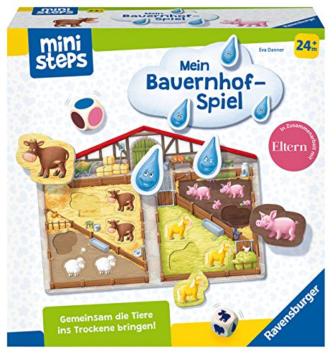 Ravensburger ministeps 4173 Unser Bauernhof-Spiel, Erstes Spiel rund um Tiere, Farben und Formen -...
