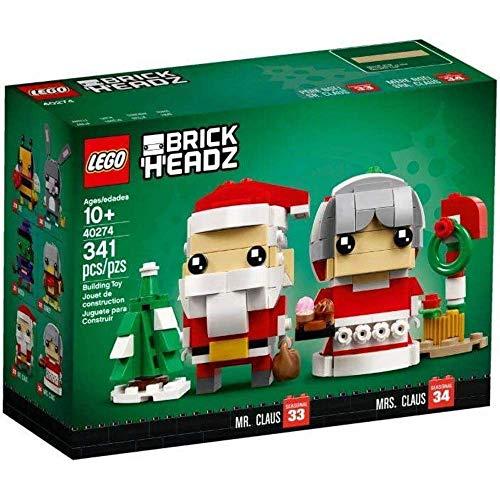 LEGO Herr und Frau Weihnachtsmann - Wünsche Frohe BrickHeadz™ Weihnachten – mit Herrn und Frau...