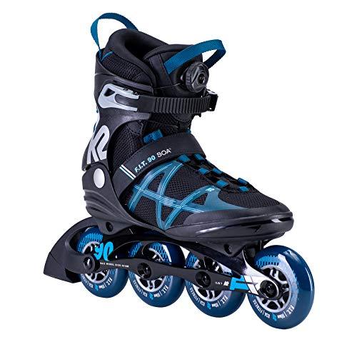 K2 Inline Skates F.I.T. 90 BOA Für Herren Mit K2 Softboot, Black - Blue, 30E0171