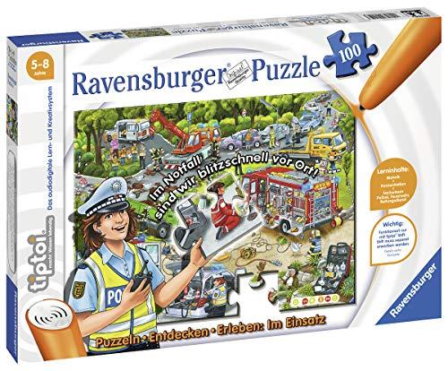Ravensburger tiptoi 00554 Puzzeln, Entdecken, Erleben: Im Einsatz , für Kinder von 5-8 Jahren, Hilf...