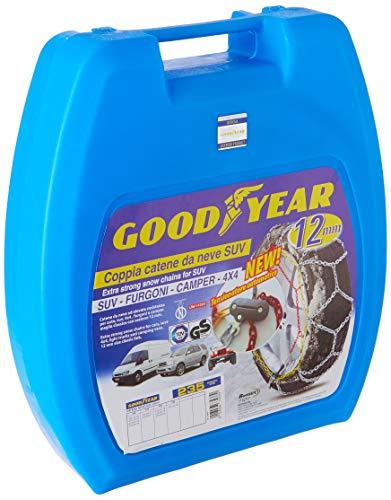 Goodyear 77933 Schneeketten 12 mm für SUV, Lieferwagen und Wohnmobil mit Selbstspannsystem, Größe 235