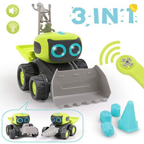 REMOKING RC Roboter Auto Spielzeug, Ferngesteuertes Baufahrzeug Spielzeug Geschenke für Kinder, 3 in 1...