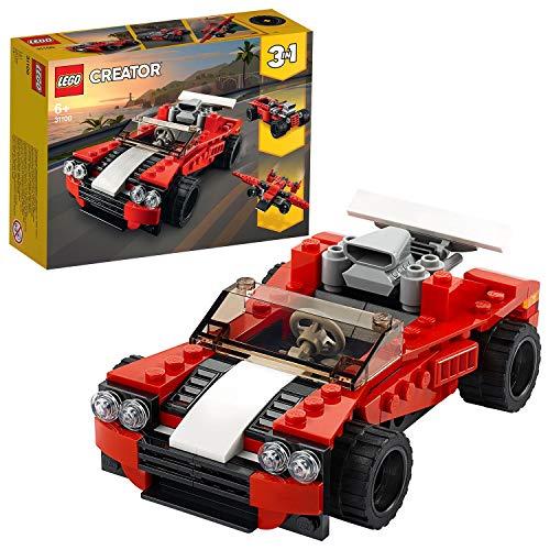 LEGO 31100 Creator 3-in-1 Sportwagen-, Hot Rod-, Flieger-Bauset, Spielzeuge für Kinder ab 7 Jahren für...
