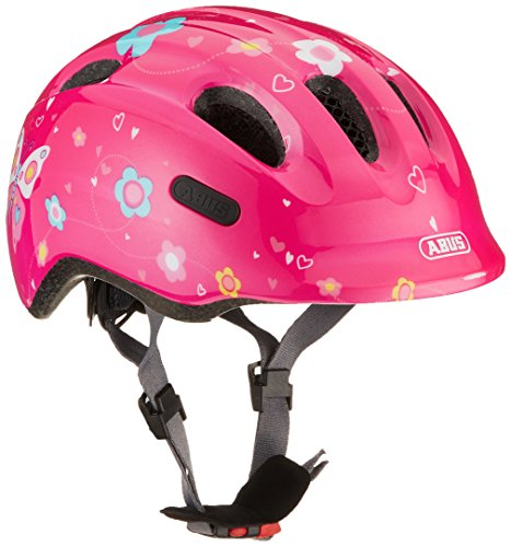 Abus Mädchen Smiley 2.0 Fahrradhelm, pink Butterfly, 50-55 cm