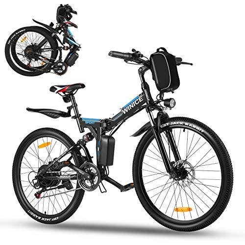 Vivi Ebike Mountainbike 26 Zoll Elektrofahrrad Klappbar Für Herren und Damen,36V 350W E-Bike mit...